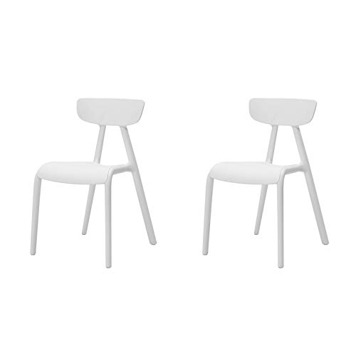 SoBuy KMB15-Wx2 2er Set Kinderstuhl mit Lehne Kinder-Schreibtischstuhl Stühlchen Weiß Sitzhöhe 34cm