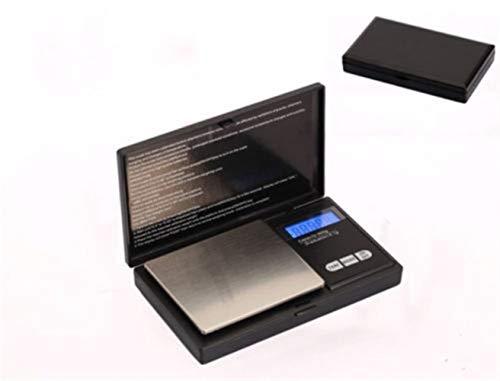 Ydfq Báscula electrónica 100 g / 0.01 g LCD Digital Pocket Diamond Joyas Escala de Plata Escala de Oro Gramo de gramo Peso electrónico Balanzas electrónicas (Color : Black)