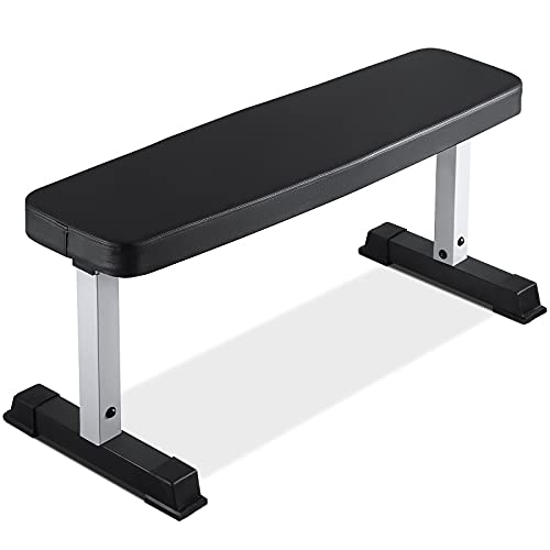 """【LIMITED TIME OFFER】Flat Weight Bench 600 LBS Capacity - 42.5 x 11.8 x 19"""" Fitness Utility Dumbbell Bench for Weight Training Exercise Home Gym"""