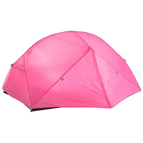 QinWenYan Tienda Tienda de Camping 2Persons Pole de aleación de Aluminio Liso Capa de Doble Capa de excursión al Aire Libre para Acampar (Color : Pink, Size : 330x210x110cm)