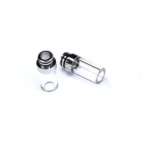 Glas Tropfspitze 510 Pyrex Glas Edelstahl Mundstück Für Elektronische Zigarette Tank RDA RBA RTA DIY Vaporizer Frei von Tabak und Nikotin (Color : 2pcs Glass Drip Tip)