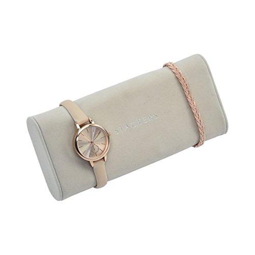 Armband-/Armbanduhr-Kissen für stapelbare Schmuck-Schatullen von Stackers Accessory steingrau