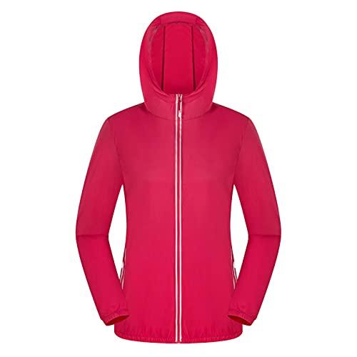 Dasongff Chubasquero para mujer, ligero, transpirable, chaqueta de lluvia para exterior, cortavientos, para senderismo, viajes