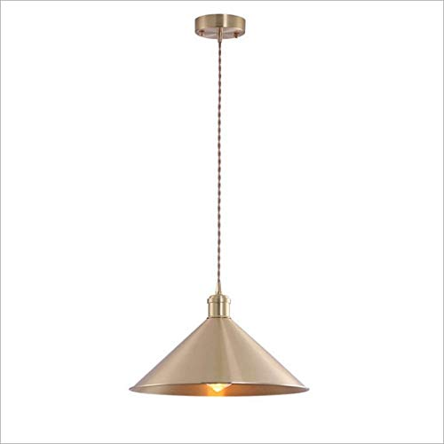 Lighfd Brass Nordic Chandelier Cafe Kitchen Kledingwinkel Aisle Restaurant Creative Enig hoofd deksel Chandelier Entrance Hotel American Lighting alle bronzen Lamp
