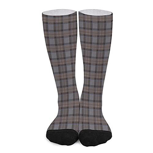 Calcetines deportivos unisex novedad alta comodidad transpirable atlético casual largo tubo calcetines - Fraser Caza Tartan Plaid