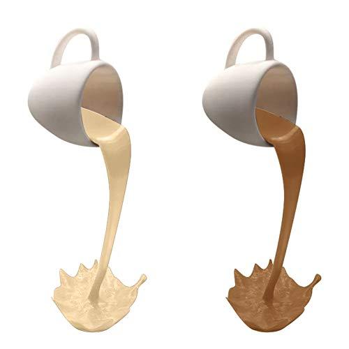 Feaslard Kaffeetasse Dekoration Schwebende 2 Stuck 3D Suspendierte Kaffeetasse Tasse Für Home Kitchen Geschenk