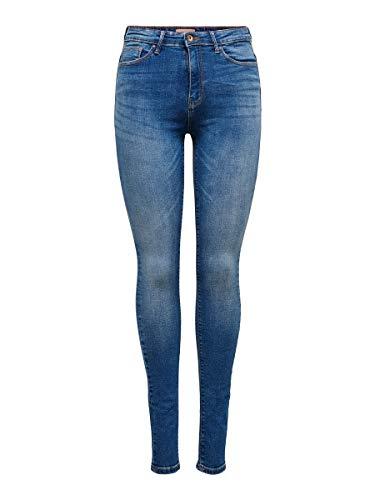 ONLY Damen Onlpaola Hw Dnm Azg0007 Noos Skinny Jeans, Blau (Medium Blue Denim), 34/M
