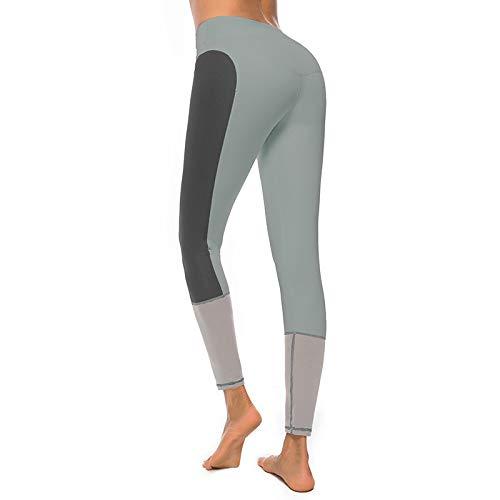 DSCX Leggings FemminiliPantaloni per Yoga Cuciture all'anca adAsciugatura Rapida per EsterniPantaloni Sportivi CollantGrandi Dimensioni Grigio M