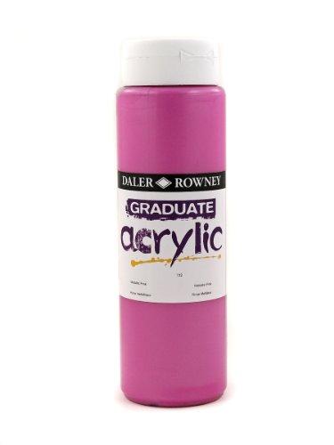 Daler Rowney Graduate - Bote de pintura acrílica (500 ml), color rosa metálico