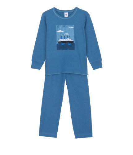 Petit Bateau Jungen Schlafanzug Gr. 98, Blau - Blau (Blau-Grün)