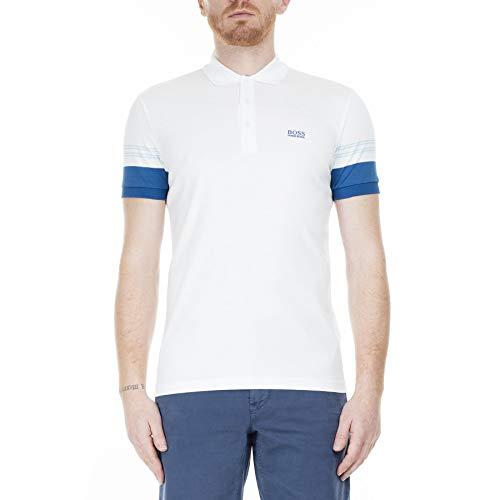 BOSS Poloshirt Paule 1mit Streifen-Dessin an den Ärmeln Weiss 100 (XL)