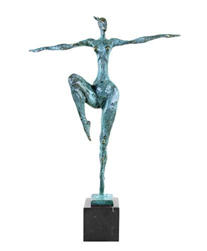 Moderne Bronzefigur auf Marmorsockel - Abstrakter Akt - signiert von Milo - Moderne Kunst Skulptur Kaufen