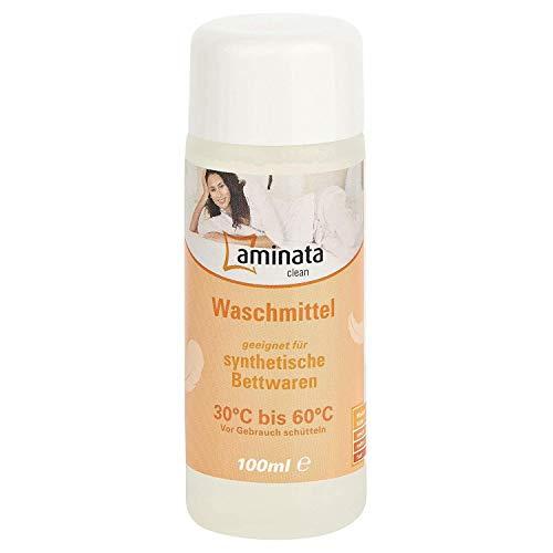 Aminata Clean – hochkonzentriertes Flüssig-Waschmittel speziell entwickelt für Synthetische Bettwaren - gegen Milben - Mikrofaser Bettwäsche - Kissen, Decken & Funktionsbekleidung