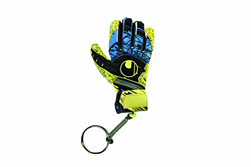 uhlsport Kinder Mini Glove Schlüsselanhänger, Lite Fluo gelb/Schwarz, One Size