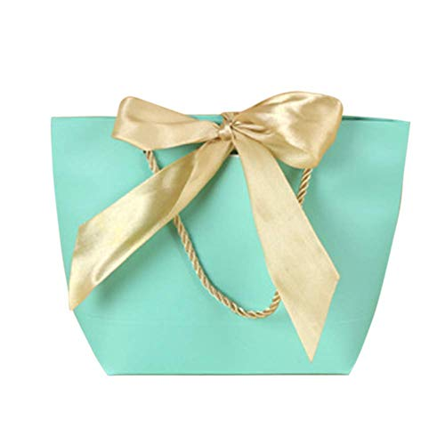 szlsl88 geschenktasje 5 stuks / verpakking voor kleding tas viering lint papier geschenk met handgrepen bruiloft party geschenk decoraties verjaardag recyclebaar DIY (40 28 12 cm dik papier)