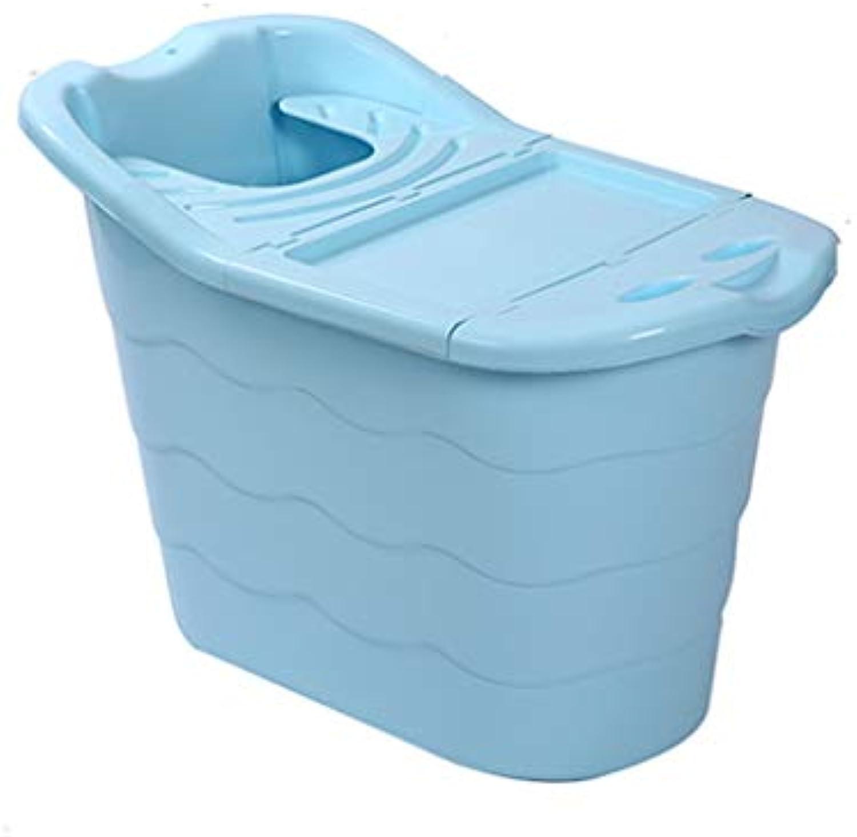 KANGSHENG Verdicken Sie die Wanne der Kinder Tragbare Badewanne der Kinder Plastikverdickte groe Raum-Badewanne, die Badezimmer-Zustze badet (Farbe   Blau, gre   Bathtub+lid)