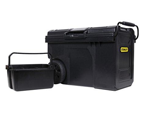 Stanley Mobile Montagebox / Montagekoffer (62x38x42cm Organizer im Deckel, entnehmbare Trage, robuste 7