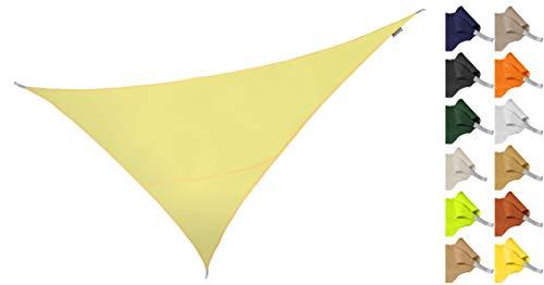 Kookaburra Tenda a Vela Triangolo rettangolo 6,0m x 4,2m per Feste Resistente all'Acqua Protezione Anti Raggi 96.5% UV per Ombreggiare Il Giardino, Terrazzo o Balcone (Avorio)