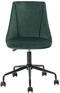 HOMY CASA Ergonomic Desk Chair Adjustable Swivel Office Chair Fabric Armless Computer Task Chair,Green