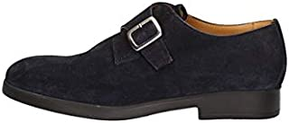 CAMPANILE Zapatillas Derby Casual Hombre 12 Piel Azul Original PE New
