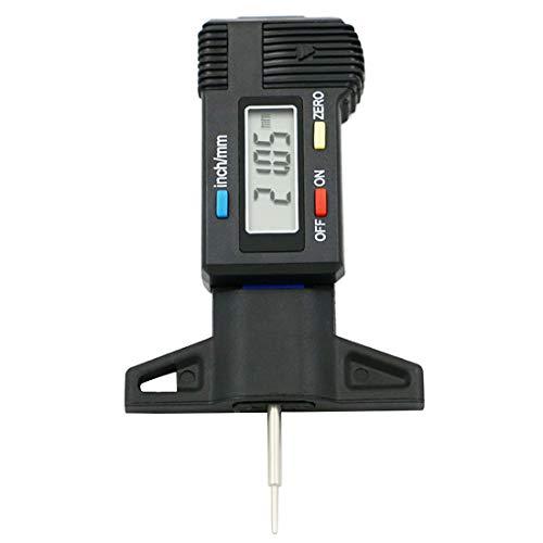 Calibrador de profundidad digital 0-25.4mm calibre de la pantalla LCD calibre de la banda de rodadura para herramienta de medidor de neumático de coche pinza