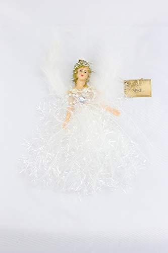 April Crystal Birthstone Angel Hanging Ornament