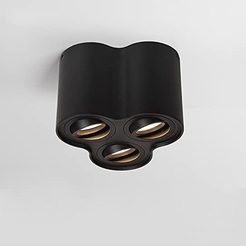 ZGQA-GQA Lámpara LED de superficie regulable, empotrable, COB 10 W, 20 W, 30 W, GU10, para vestíbulo interior, luz de salón (emisión de color: blanco frío, vatios: 20 W blanco regulable)
