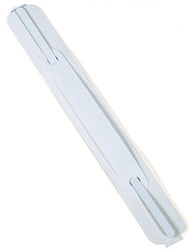 Durable 690802 - Flexifix Economy, Pressino Fermafogli Autoadesivo, Adatto per Superfici Lisce, 38 x 150 mm, Bianco, Confezione da 100 Pezzi