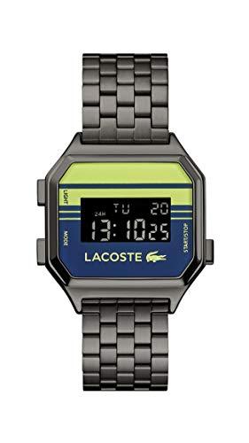 Lacoste Reloj Digital para Unisex Adulto de Cuarzo con Correa en Acero Inoxidable 02020134