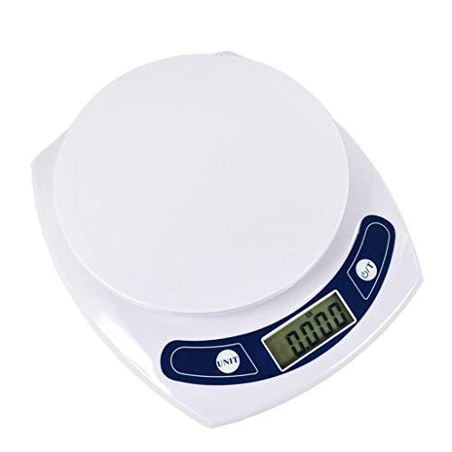 CWTC Báscula Digital Cocina, 0.1g Balanza de Alimentos Digital con Función de Tara Pantalla LCD Máximo 7 Kg Báscula de Alta Precisión báscula electrónica (Size : 3KG/0.1G)