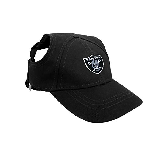 Littlearth NFL Oakland Raiders Pet Baseball Hat, XL, Team Color