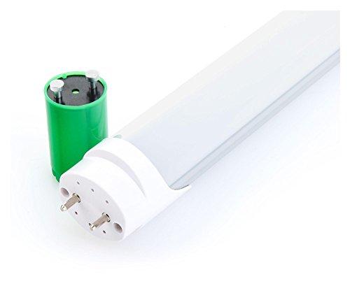 Showlite LED Röhre 60cm mit Aluminiumgehäuse und Starter (600mm Premium SMD Leuchtstoffröhre, T8 G13, 900 Lumen, 4500 Kelvin, Tageslichtweiß, Leistung: 10W)