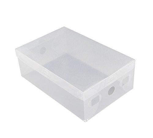 Gespout Plastique Boîtes de Rangement Tiroir Style Plus épais Boîtes de Rangement pour Chaussures débris Plastique Blanc 28 * 18 * 10cm(L*W*H)