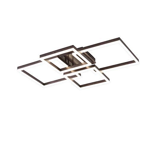 Plafón LED, 70 W, 5600 lm, lámpara regulable, diseño creativo de acrílico, iluminación de techo, lámpara de techo moderna, dormitorio, salón, estudio, oficina