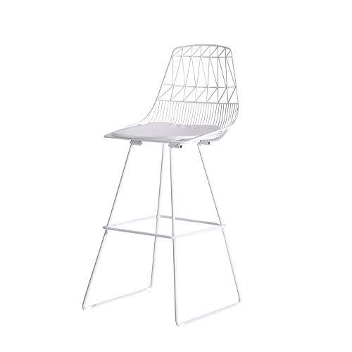 Tabouret de Bar en Fer forgé Nordique Mode Tabouret Haut Simple Maison Moderne Chaise Haute Confort du Dossier