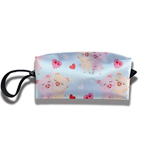 Bbhappiness Pouch Handbag Cosmetics Bag Case Purse Travel & Home Portable Make-up Receive Bag Couple Pigs With Heart Shape