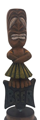 "Tiki Man Full Size 10"" Beer Tap Handle Pull for Homebrew, Kegerators, or Bars"