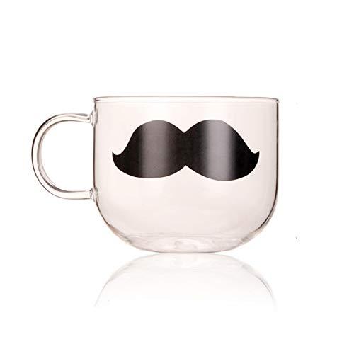 XINGYAO Mok Leuke Glazen Mok Mooie Mok Hittebestendige Glas Thee Cup Bier Mok Japanse Koffie Cup keuken (Kleur: Baard 500ml)