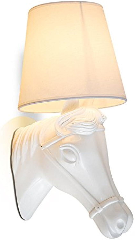 Firsthgus E27 Wandlampe Schlafzimmer Nachttisch Hintergrund Wand Gang Tier Pferdekopf Wandlampe