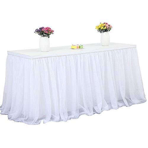 Tischröcke, handgemachte Tüll BalletShort Net Garn Tischrock, Tischdekoration perfekt für Hochzeiten, Verlobungsfeiern, Bankett, Geburtstage, Geschäftsveranstaltungen, Babypartys
