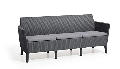Allibert Salemo 3er Lounge Sofa, Graphit/Panama cool Grey