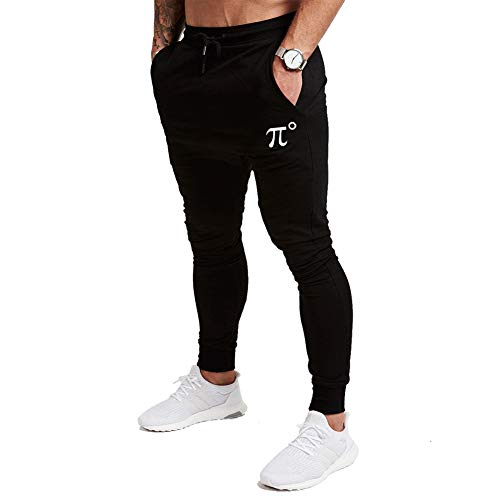PIDOGYM Men's Slim Jogger Pants, Tapered Sweatpants for Training, Running, Workout with Elastic Bottom Black