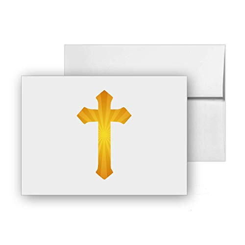 Cross Sticker Crucifix Pray Faith Jesus, Blank Card Invitation Pack, 15 cards at 4x6, with White Envelopes, Item 1386996