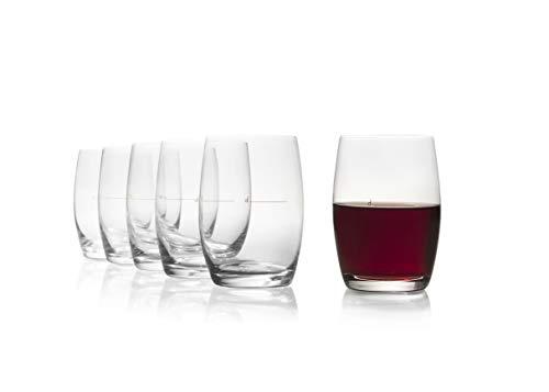 """Stölzle Lausitz """"The New ⅛"""" Hausweinglas rot 253 ml I Rotweingläser 6er Set I Weingläser ohne Stiel spülmaschinenfest I Weißweinbecher Set bruchsicher I wie mundgeblasen I höchste Qualität"""