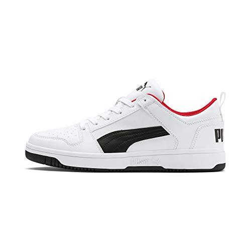 Puma Herren Rebound Layup Lo SL Sneaker, White Black-High Risk Red, 43 EU