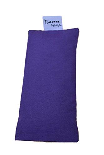 Tvamm-Lifestyle Augenkissen(Lila) mit Leinsamen/Lavendel Füllung - 100% Baumwolle Stoff, 23 x 11 cm/in wunderschönen Farben erhältlich
