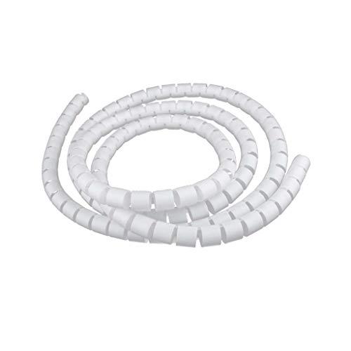 2m Kabelspirale Spiralband Spiralschlauch/Kabel Spiral Kabelschlauch/Kabelschutz Schlauch - Weiß 10mm