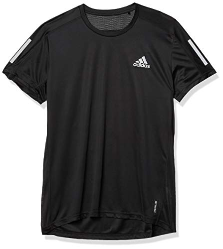adidas Own The Run - Camiseta para Hombre, Hombre, Color Negro, tamaño Medium