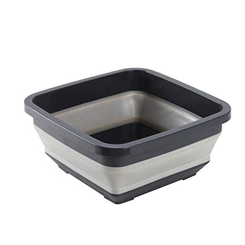Alberta Grau tragbare Basins Waschbecken Wascheimer Schüssel Waschbecken Küche Wassereimer Klappbecken Campingwagen Accessoire