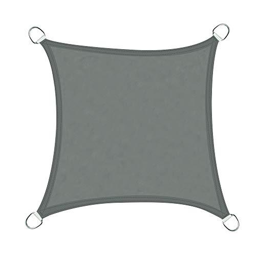 Anthracite Minuma/® Polyester imperm/éable Respirant Protection UV Voile dombrage Triangulaire Toile auvent b/âche Contre Les intemp/éries Triangle 3 x 3 x 3 m